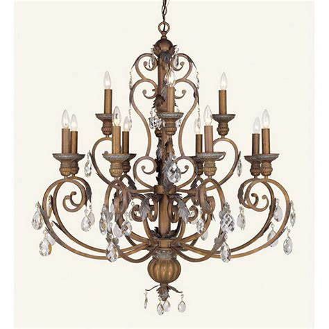 shop livex lighting iron 12 light crackled