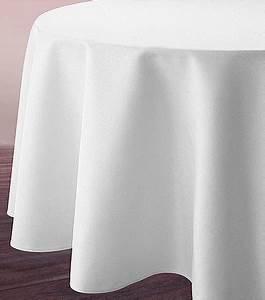 Nappe Tissu Pas Cher : nappe ronde blanche tissu polyester 3m d coration de table ~ Teatrodelosmanantiales.com Idées de Décoration