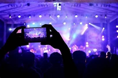 Stage Lights Lighting Smartphone Blur Tech Concerto