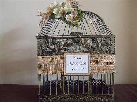 Wedding Card Box Birdcage Card Holder Rustic Wedding Decor