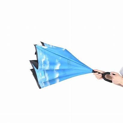 Reverse Umbrella Folding Windproof Double Inverted Rain