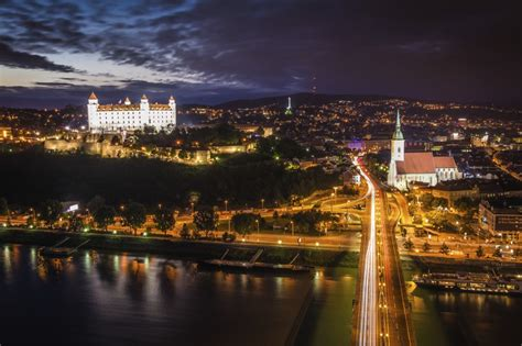 bratislava night life danube  thames