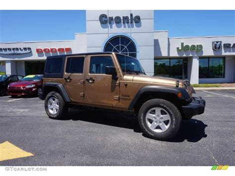 jeep colors 2015 2015 copper brown pearl jeep wrangler unlimited sport 4x4