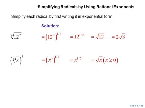 Multiplying, Dividing, And Simplifying Radicals  Ppt Video Online Download