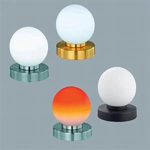 Glas Lampenschirme Für Tischleuchten : tischlampe aus rundem glas mit touchdimmer wohnlicht ~ Bigdaddyawards.com Haus und Dekorationen