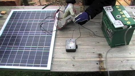 Solar Panel Kit For Shed by Solar Powered Shed 01 Basic Solar Setup