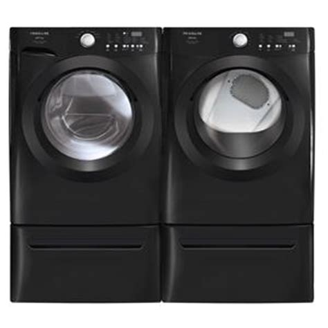black washer and dryer colored kitchen and laundry appliances