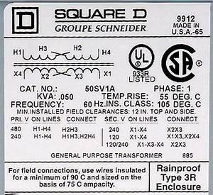 Diagram  3 Phase Dry Type Transformer 480 208 Wiring