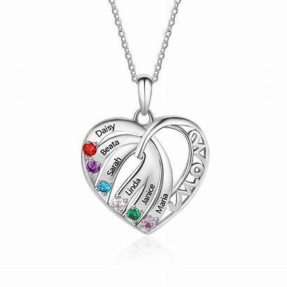 Necklace Sterling Birthstone Mom Gifts Bespoke Mother