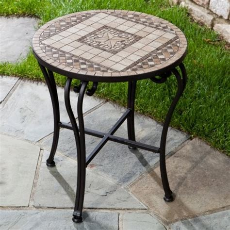mosaic outdoor side table alfresco home marble mosaic outdoor side table