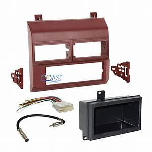 Car Radio Stereo Red Dash Kit Harness Antenna For 1988