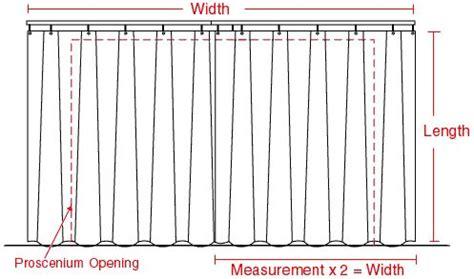 proscenium curtain diagram draperies window treatments