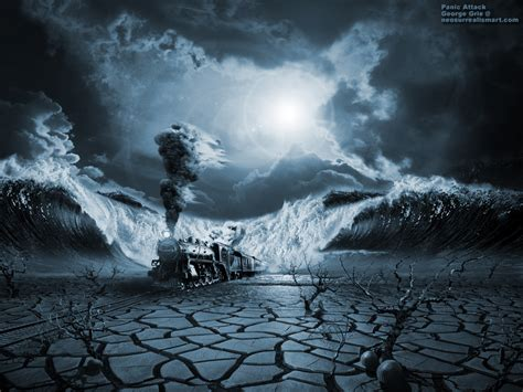 3d Artist Wallpaper by Modern Surrealism Poster Print Wallpaper Panic