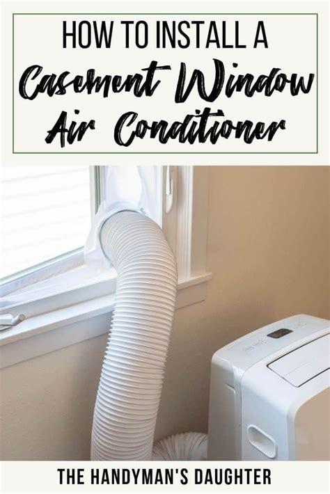 vent portable air conditioner crank  windows  home plans design