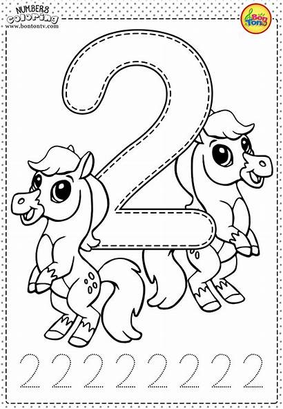 Coloring Pages Number Learning Preschool Numbers Printable