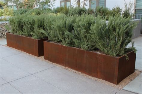 Planters Extraordinary Metal Planter Boxes Metal Planters