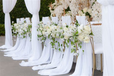 12 beautifully draped fabric wedding chair ideas mon cheri bridals