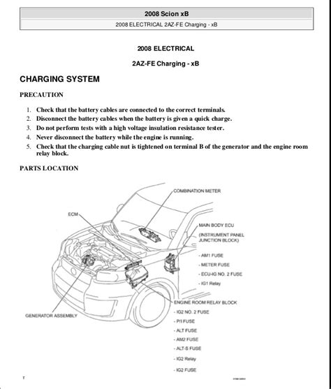 2005 Scion Xb Engine Diagram by Scion Xb 2009 Service Repair Manual