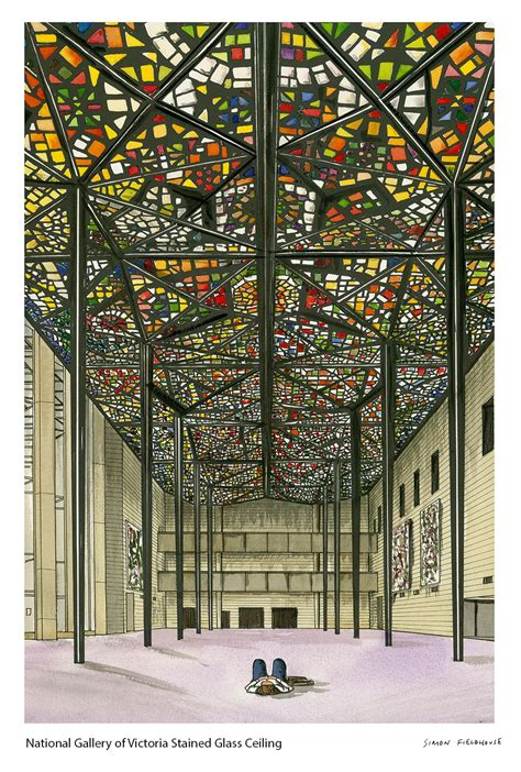national gallery victoria ngv stained glass ceiling
