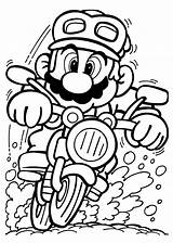 Mario Coloring Game Print Driving Pages Play Cartoon sketch template