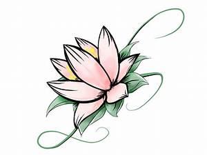 Simple Lotus Flower Drawing - ClipArt Best