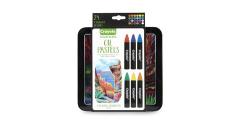 Crayola Oil Pastels 24 Ct. With Tin Only .86 On Amazon