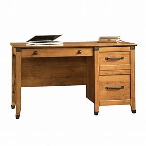 Adorable L Shape Natural Oak Office Computer Desk Has An