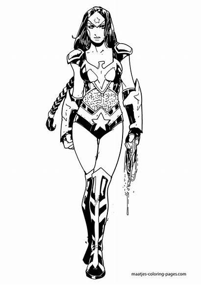 Wonder Coloring Woman Wonderwoman Superheroes Lego Supergirl