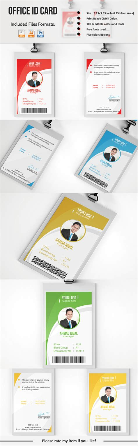 professional employee id card  behance  images