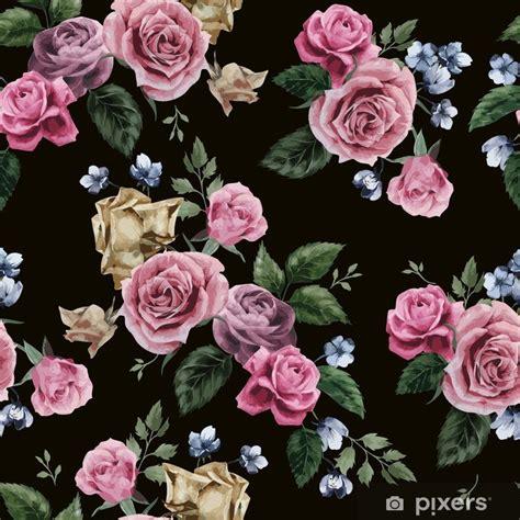 papier peint vector motif floral avec des roses sur fond