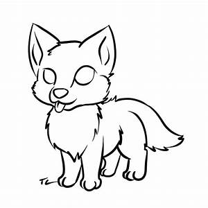 Wolf pup Lineart FREE - ClipArt Best - ClipArt Best