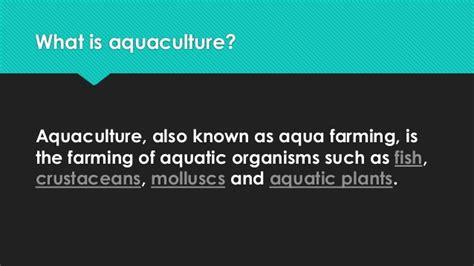 fisheries aquaculture