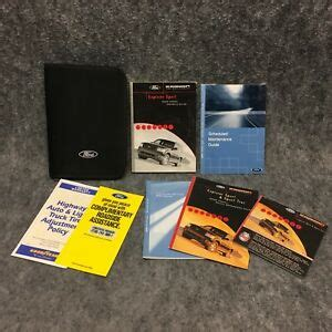 ford explorer sport owners users manual guide