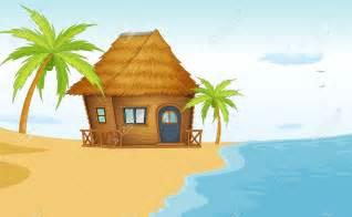 Beach House Cartoon Clip Art