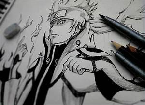 Naruto nine tails chakra mode by Booomm28 on DeviantArt