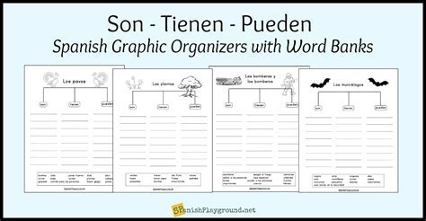 Spanish Vocabulary Graphic Organizers: Are Have Can