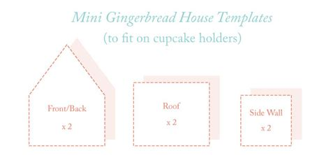 gingerbread house template pdf more joys of gingerbread mini gingerbread houses