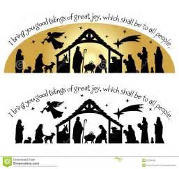Christmas Silhouette Nativity Clip Art Free