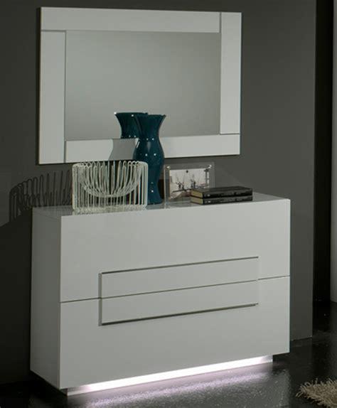 cuisine promo commode 2 tiroirs city laque blanc chambre à coucher