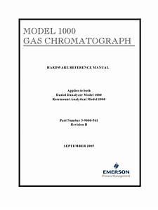 Model 1000 Gas Chromatograph Hardware Reference Manual 3