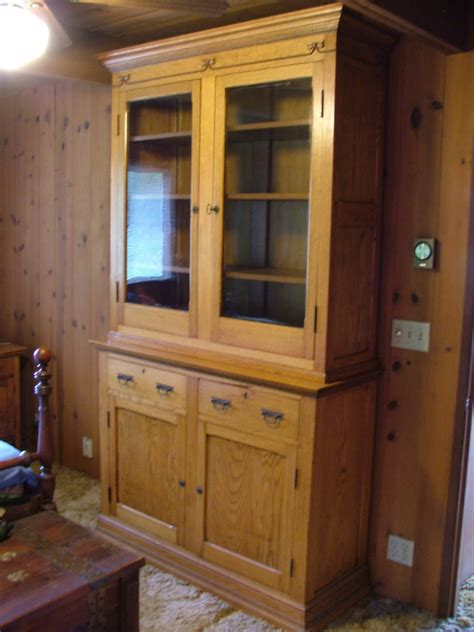 oak china cabinets for wooden oak china cabinet or cupboard from civil war era