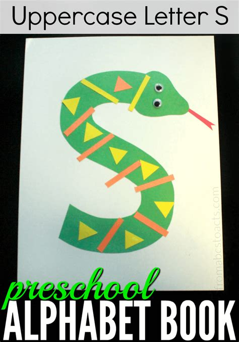 letter s crafts for preschoolers preschool alphabet book uppercase letter s from abcs to 894