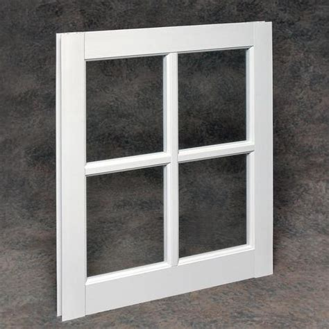 northview white vinyl barn sash  single pane glass  menards