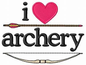 I Love Archery  Bow  U0026 Arrow Embroidery Design From Grand