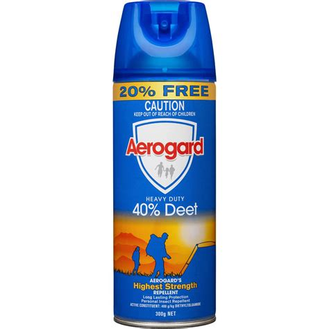 large area mosquito repellent aerogard insect repellent 40 deet 300g woolworths