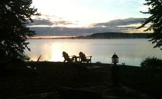 chair rental mn cool morning view from right in front of the cabin