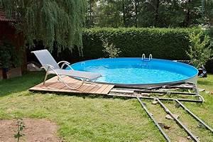 Gerüst Selber Bauen : poolumrandung holz rund selber bauen ~ Articles-book.com Haus und Dekorationen