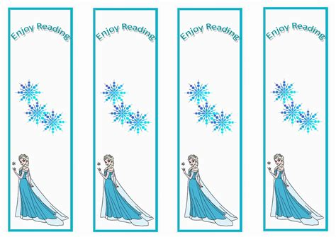 frozen bookmarks birthday printable