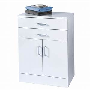 trento white gloss free standing bathroom cabinet With bathroom cabinet base unit
