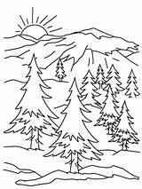 Sunrise Drawing Coloring Pages Getdrawings sketch template